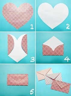 Simple way to make an envelope turkey craft, diy love, heart envelope, fold Diy Love, Fun Diy, Easy Diy, Simple Diy, Super Simple, Heart Envelope, Gift Envelope, Origami Envelope, Origami Heart