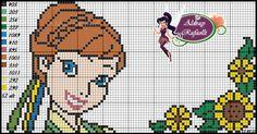 Anna Frozen Fever pattern - Ponto Cruz da Drayzinha