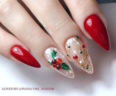 Holiday Nails, Christmas Nails, V Instagram, Christmas Nail Art Designs, Santa Face, Summer Acrylic Nails, Pretty Nails, Beauty, Cute Nails