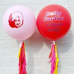 Cutsom Dolly Parton Balloons for Birthday Party. Dolly Parton Vibes Only. Vintage Dolly.