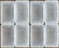 Qty 8 Pcs - Clear Plastic Game Cartridge Card Box Case Cover for Game Boy GBA SP GBM