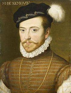 A portrait of Jacques de Savoy, duc de Nemours, ca. 1556. By an unknown artist. Musée Condé, Chantilly.