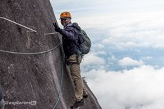 The smile is a per requested from our guide. Taking off one of my hands from the cable to do this took some courage. Don't regret a thing, would do it again.  #2ExplorersIn #Borneo #Malaysia #Travel  If you want to know more about our adventures, click on the image which will get you to our 2 Explorers In web site https://2ExplorersIn.com. Looking forward to see you there