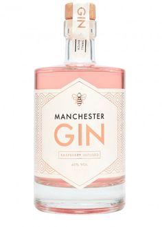 Manchester Gin Raspberry Infused Buy Online - Next Day Delivery Alcohol Bottles, Gin Bottles, Glass Bottle, Manchester Gin, Cocktails For Beginners, Gin Based Cocktails, Dandelion And Burdock, Premium Gin, Der Handel