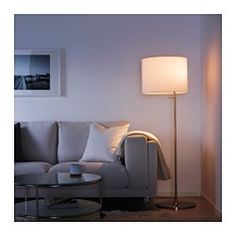 IKEA - STOCKHOLM, Floor lamp, , Fabric shade gives a diffused and decorative light.These lamps can be both general lights and reading lights and can be switched on and off separately.Diffuser makes the light more agreeable for the eyes.