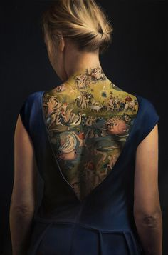 This Woman's Tattoo Inspired By 15th Century Painting Is Not What It Seems To Be