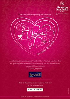 A Valentine Affair @ Sheraton, New Delhi | 14th February 2013. #ValentinesDay #Delhi #ITCHotels     For more details visit: https://www.facebook.com/ITCHotels