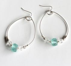 Sea glass and Silver - how simply pretty