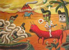 Acrylic on canvas - Sergio Mora Sergio Mora, Pop Surrealism, Art Club, Deviantart, Kitsch, Pop Art, Kids Rugs, Canvas, Disney Characters