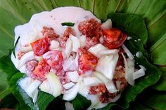 PALU SAMI - A traditional Samoan dish of wrapped bundles of taro leaves with a coconut and onion filling. Sometimes made with chicken or fish along with the coconut. Very similar to our Hawaiian lau lau, this particular version is made with corned beef.  Get this recipe by clicking on the link below: http://ow.ly/RwFC304kwfV