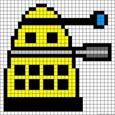 Doctor Who Dalek perler bead pattern