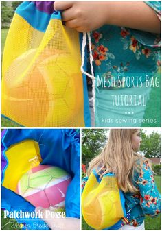 Sports Ball Cinch Bag – Sewing Projects for Kids Series