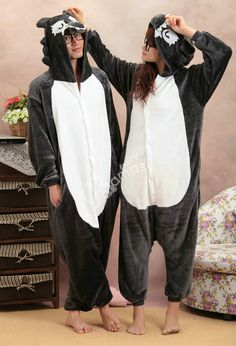 Black Timber Wolf Onesies Hoodie Pajamas Pyjama| PajamasBuy