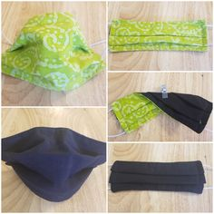Face Mask Lime Green and Black Fabric on other side Reversible / Reusable  / Three Layer Cotton /  Washable /  Handmade Face Mask Covering 24 Hour Fast, She Mask, Fabric Origami, Fruit Print, Green Print, Daughter Love, Have A Great Day, Go Shopping, Black Fabric