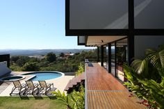 Image 13 of 27 from gallery of MT House / Telles Arquitetura. Photograph by André Scarpa Outdoor Pool, Outdoor Decor, Ground Floor Plan, Tropical Style, Exterior, Interior Architecture, Entrance, Minimalism, House Plans
