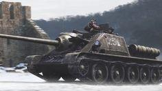 #Tank #Su100 #WorldofTanks #Snow #Ruin #Military #Wallpaper