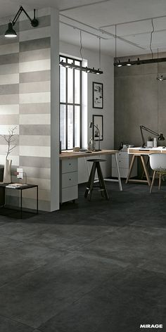 Large Slabs | Glocal Collection| The large slabs by Mirage are the result of highly advanced research into ceramics and innovative production techniques.  The cement and resin effect collections by Mirage are aimed at those who love settings with neutral colours and a contemporary edge.  #miragetile #porcelaintile #largeslabs #slabs #bigsize #concretetiles #concretelook #concreteeffect #interior #design #designers #interiordesign #designinspiration
