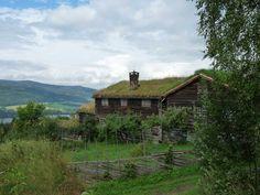 Summer at the farm Øygarden in Maihaugen Open Air Museum in Lillehammer, Norway…