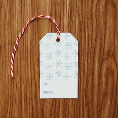 Snowflakes Christmas Gift Tags - Set of 10