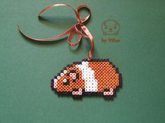 Dutch orange brown guinea pig Hama bead pixel by VilianPlushies