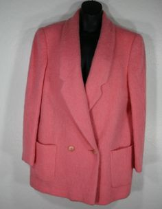 Vintage Mohair Jacket Blazer Size 16 Coral Emily Wetherby Johnny Appleseed's  #EmilyWetherby #BasicJacket Blazer Jacket, Wool Blend, Size 16, Coral, Best Deals, Vintage, Shopping, Women, Fashion