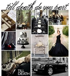 #wedding #halloween #theme #spooky #chic... morbid?... but i like it