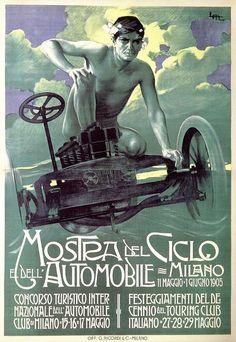 Leopoldo Metlicovitz, Mostra del Ciclo e dell'Automobile - Milano, 1905
