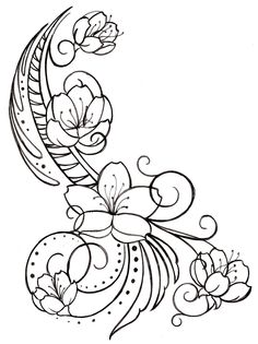Cherry Blossom and Swirls Tattoo by ~Metacharis on deviantART
