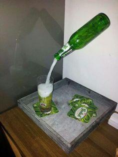 Zwevende fles: