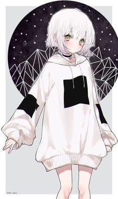 Anime Drawing black and white Anime Neko, Manga Kawaii, Cute Anime Chibi, Cute Anime Pics, Chica Anime Manga, Kawaii Anime Girl, Pretty Anime Girl, Cool Anime Girl, Beautiful Anime Girl