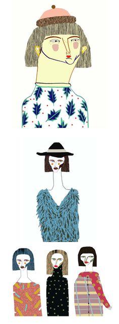 Illustrations by Ashley Percival. illustrator, illustration, character, fashion, art, design