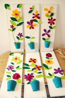Frühling warten Dekoration (mit Vorlagen) – basteln Spring wait for decoration (with templates) – crafts – Craft Activities, Preschool Crafts, Diy And Crafts, Crafts For Kids, Arts And Crafts, Paper Crafts, Diy Paper, Elderly Activities, Cardboard Crafts