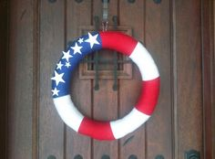 Memorial Day, 4th of July, Veteran's Day wreath. I'll probably add a yellow ribbon.