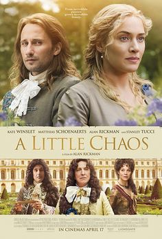 Alan Rickman, Kate Winslet, Stanley Tucci, Helen McCrory, and Matthias Schoenaerts in A Little Chaos (2014)