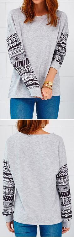 Big Sale, $19.99! Only Free Shipping~ This top is right about so many things! The piece is adorable with that casual style! Go and get the Short of Nothing Splicing Printing Top at Cupshe.com now~