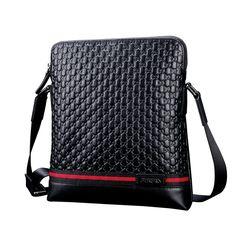 JD-JETRS Embossed leather man bag Shoulder Messenger cowhide fashion leisure package