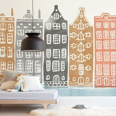 """On the Canal"" – Kids Non-custom Wall Murals by Griffinbell Paper Co. ""On the Canal"" – Kids Non-custom Wall Murals by Griffinbell Paper Co.,For SS Shop hundreds of fresh, modern holiday cards, wedding invitations,."