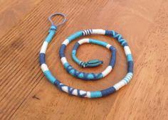 Atebas amovible bleue marine blanche et bleue claire - 53cm Tresse indienne : Accessoires coiffure par stonanka