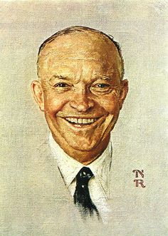 1952- President Eisenhower - by Norman Rockwell by x-ray delta one, via Flickr