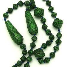 Vintage ART DECO Czech MAX NEIGER Egyptian Revival Rare Face Glass Bead Necklace