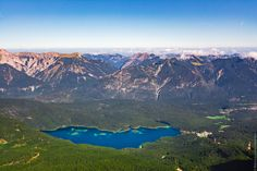 Eibsee - Eibsee is a lake in Bavaria, Germany, 9 km southwest of Garmisch-Partenkirchen and roughly 100 km southwest of Munich. At an elevation of 973.28 m, its surface area is 177.4 ha. Eibsee lies at the base of the Zugspitze (2950 meters above sea level), Germany's highest mountain.