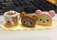 日本人のおやつ♫(^ω^) Japanese Sweets. リラックマケーキ。Blippo.com Kawaii Shop ❤
