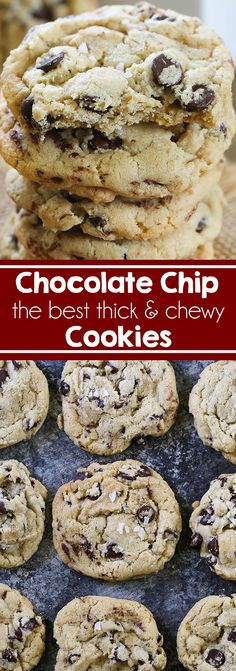 The Best Chewy Chocolate Chip Cookies - The ultimate thick and chewy bakery-style chocolate chip cookies made with semi-sweet chocolate chips and Mexican vanilla. #cookies #chocolatechipcookies #dessert