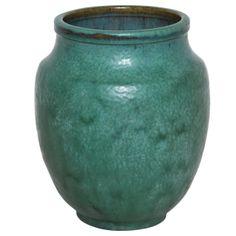 Art deco stoneware vase by Émile Decoeur