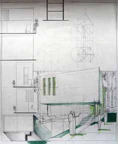 Minimalist House Design Architectural Sketch / Dragos Neatu