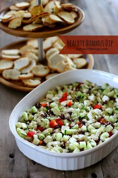 Healthy Hummus Dip makes and easy appetizer or snack |Joyful Scribblings for cupcakesandkalechips.com | #glutenfree #vegetarian