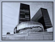 "360-Grad-Panorama-Bar ""Pebbles"" am Hyatt | Hafenspitze Medienhafen II | Michael Mechnig photography | Architecture"