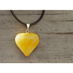 Butterscotch Baltic amber heart pendant, Amber pendant necklace, Egg... (72 BGN) ❤ liked on Polyvore featuring jewelry, necklaces, amber necklace, adjustable necklace, heart shaped pendant necklace, adjustable leather cord necklace and amber heart necklace