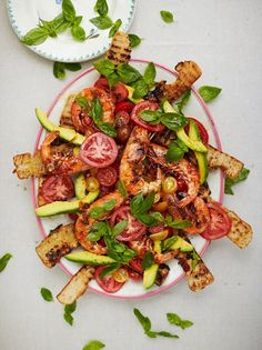 Sticky barbecued prawn salad ๑ Jamie Oliver
