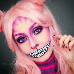 Pin von Susann Casper Mocsany auf Halloween Make-up Cheshire Cat Makeup, Cheshire Cat Costume, Chesire Cat, Cat Halloween Makeup, Amazing Halloween Makeup, Halloween Kostüm, Cosplay Makeup, Costume Makeup, Cat Cosplay